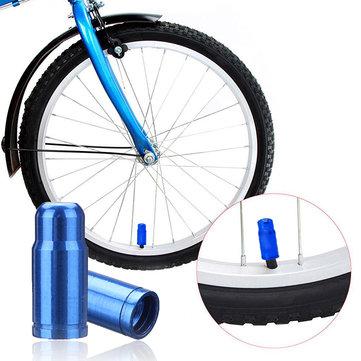 BIKIGHT 2 Pcs Aluminum Alloy Wheel Presta Valve Mouth Dust Cover Cap for Bicycle