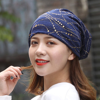 Women Ethnic Cotton Breathable Beanie Cap