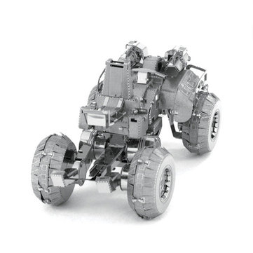 Aipin DIY 3D Puzzle Stainless Steel Assembled Model Wheel UNSC Combat Vehicle For Kids Gift