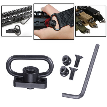 Tactical Heavy Duty 1.25 Sling Mount Push Button QD Sling Adaptor Rail Buckle Strap Ring