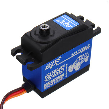 SPT5425LV 25KG 90° Large Torque Digital Metal Gear Servo For 1:8 1:10 RC Robot Car Boat