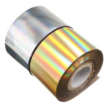1 rolo quatro centímetros x 110m estrelado prata ouro folha de transferência de etiqueta do prego manicure decoração de papel