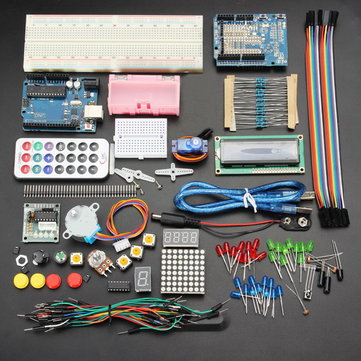 20% OFF Bagi Geekcreit UNO R3 Basic Learning Kit Pembelajaran No Battery Version For Arduino