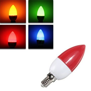 E14 5W LED Bulb 10 SMD 2835Colorful Energy Saving Candle Light Chandelier Lamp AC 220V