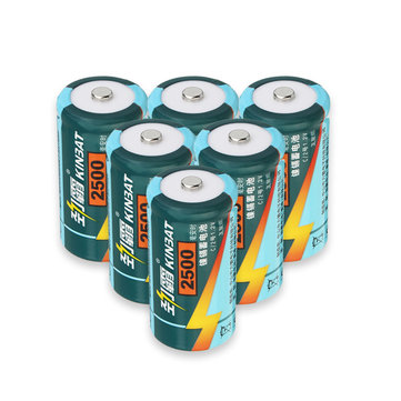 6pcs KINBAT 1.2V C Size / D Size NI-CD Rechargeable Battery For Toy Camera Multimeter Instruments Flashlight