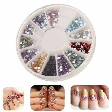 Multi-cor 3d brilho strass arte do diamante prego decoração Beads DIY