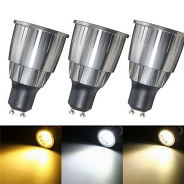 LED Ultra Bright Dimmable 7W 600Lm GU10 COB LED Spotlightt Bulb AC 110/220V