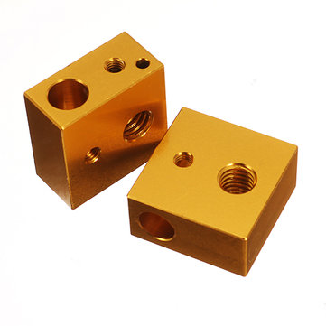 Creality 3D® 2PCS MK7/MK8 20*20*10mm Aluminum Heating Block For 3D Printer