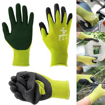 Садоводство Универсальная защита труда Nylon Перчатка 1 пара с покрытием из нитрила Перчатки Износоустойчивость