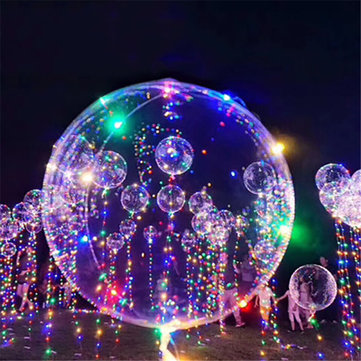 1Pc Transparent Balloon Christmas Decoration Light Balloon 18 Inch With 3m Light Decorations
