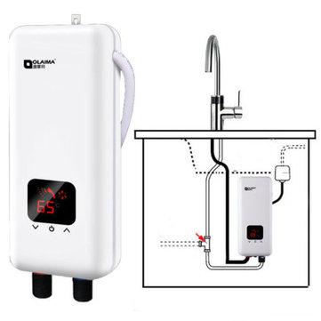 Ordinaire 220V 5500W Mini Tankless Electric Instant Hot Water System Bathroom Kitchen  Faucet Tap Water Heate