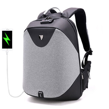 Anti Theft Customs Lock Laptop Backpack Bag Travel Bag With USB Charging Port