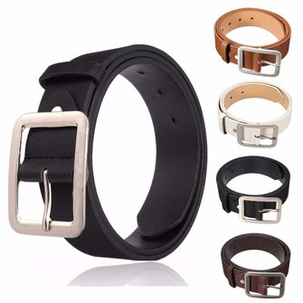 Men PU Leather Belts Casual Pin Buckle Waist Strap Waistband