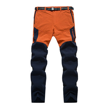 Mens Outdooors Quick Drying SporT-pantalons Imperméable Spell Couleur Pantalons d'escalade
