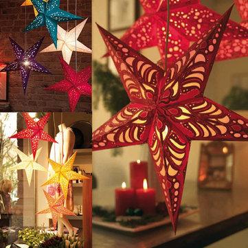 Carta pentagramma paralume stella lanterna appesa decorazioni domestiche ornamento bar partito 30 centimetri 40 centimetri 50 centimetri