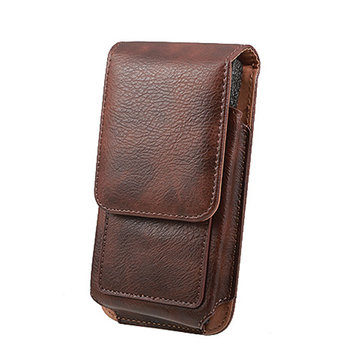 Man Business PU Telefoon Wallet Card Bag Portemonnee Portemonnee Dual Use Waist Bag