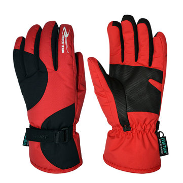 Men's Winter Warm Gloves Cold Wind Electric Car Waterproof Ski Gloves