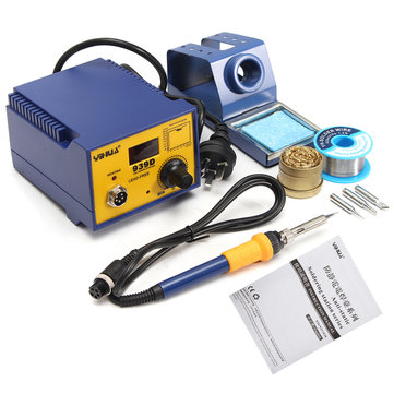 YIHUA 939D 75W Digital Display Soldering Rework Solder Iron Station 3 Tip Lead Welding