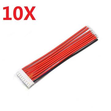 10PCS 2.54XH 22AWG 13CM 8S 9Pin Balance Cable Silicone Wire for Lipo Batteries