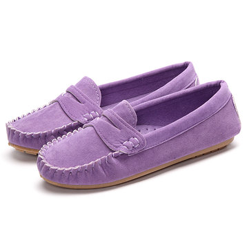 Low Top Women Shoes Soft Casual Outdoor Round Toe Flat Loafers