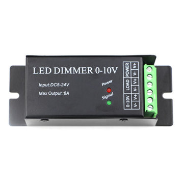 0-10V Common Anode 8A LED Dimmer Controller For Single Color Strip Light Lamp DC5-24V