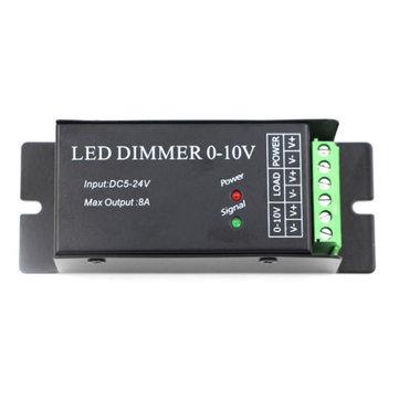 0-10V Common Anode 8A LED Dimmer Controller For Single Color Strip Light Lamp DC5-24V