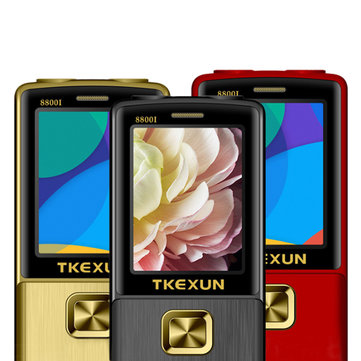 TKEXUN 8800i 2.8'' 1800mAh Whatsapp Bluetooth Dual Flashlight Dual Sim Flip Metal Feature Phone