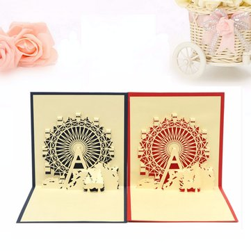 3D Christmas Greeting Card Handmade Pop Up Greeting Card With Envelope