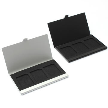 Aluminum Alloy Memory Card Case Card Box Holder For 3 Pcs SD/MMC Card
