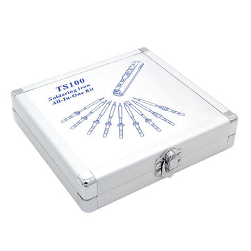 MINI Portable Aluminium Storage Box 154 x 147 x 36mm for TS100 Soldering Iron Station