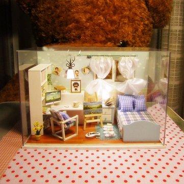Cuteroom 1: 32dollhouse миниатюрный поделок комплект с крышкой и музыка LED свет сердце океана
