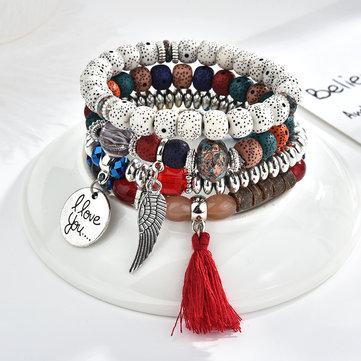 Vintage Beaded Bracelet Set