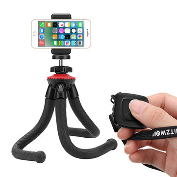 BlitzWolf® BW-BS7 Multi-angle Rotation Bluetooth Octopus Tripod Selfie Stick for Phones Sport Camera