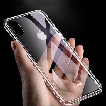 Cafele Protective Case for iPhone XS Max 6D Clear Tempered Glass Soft TPU Edge Back Cover