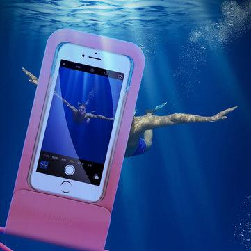 рокIPX8ВодонепроницаемыScreenTouchПрозрачный оконный телефон Сумка для iPhone Xiaomi Under 6.0 дюймов