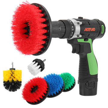 5pcs Electric Drill Cleaning Brushes Set Stiff Scrub Brush for Wall Carpet Tile Cleaning