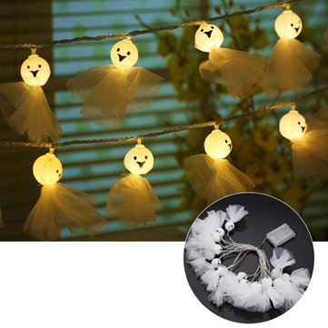 Battery Powered 5.35M 20LEDs Sunny Dolls Shaped Waterproof Warm White String Light For Christmas
