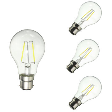 Dimmable B22 A60 2W Pure White Warm White COB Retro Edison Light Lamp Bulb AC220V