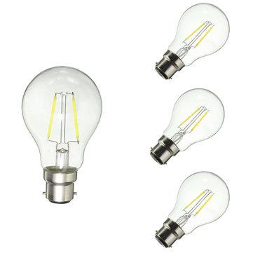 หรี่แสงได้ B22 A60 2 วัตต์ไวท์วอร์มไวท์ COB ย้อนยุคหลอดไฟ LED Edison AC220V