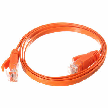 1M RJ45 Flat CAT-6 Ethernet Internet Network LAN Cable Patch Lead For PC Router