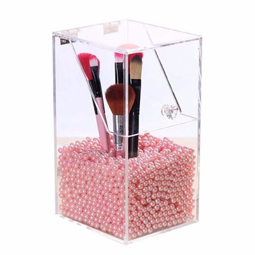 Acrylic Clear Container Dustproof Makeup Case Box Cosmetic Storage Holder Organizer Brush