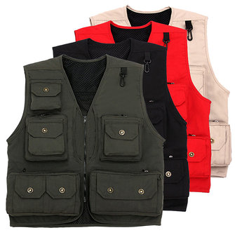 Outdooors Multi Pocket Photography Reporter Directing Fishing Functional Vest