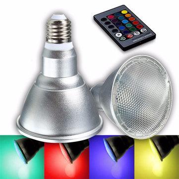 E27 8W Dimmable PAR30 RGB LED Light Color Changing Bulb Spot Flood Lamp Remote Control AC85-265V