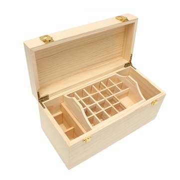 49 Grids Double layer Wooden Bottles Box Container Storage for Essential Oil Aromatherapy