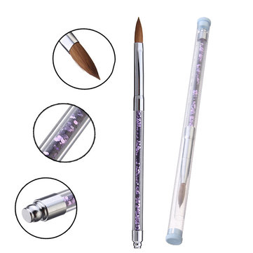 Nail Art Brush Crystal Pen Mink Hair DIY Design Carve Pattern Brush Manicure Tool