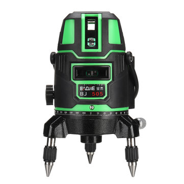 360 Degree Rotary Green Laser Level 5 Lines Self Leveling Cross Measure New