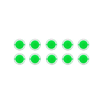 10Pcs Green Transparent 30MM Card Button Crystal Small Circular Arcade Game Push Button Switch