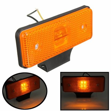1Pcs Universal 12V Car 4 LED Side Market Light Lamp Indicator Truck Vehicle Amber