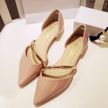 Women Pointed Toe Shoes Flats Wedding Partywear Strap Loafers
