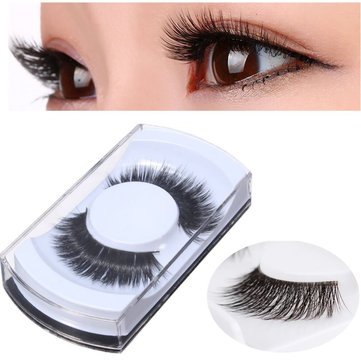 1 pair Long Thick False Eyelashes Natural Look Makeup